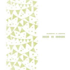 Green Textile Party Bunting Vertical Frame Seamless Pattern