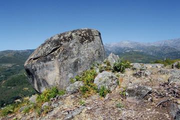 Roca en castro vetón, Raso de Candeleda, España