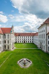 Der Innenhof des Kloster Ottobeuren