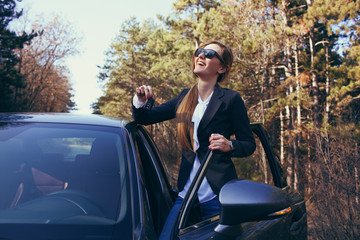 girl with car key
