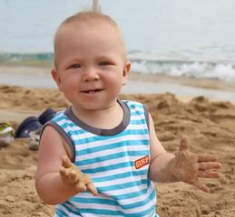 adorable baby boy smil