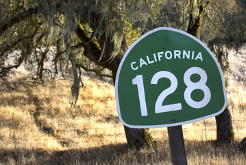 California State Route 128 Through Northern California Wine Coun
