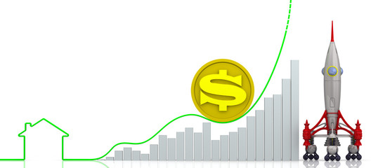 Рост цен на недвижимость. Концепция