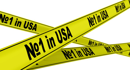 Первый в США (№1 in USA). Жёлтая оградительная лента