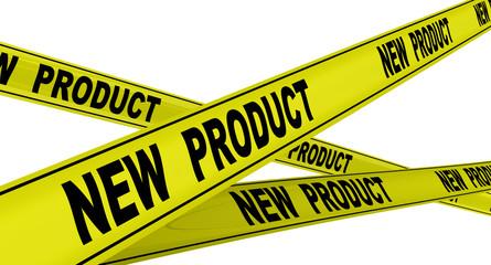 Новый продукт (new product). Жёлтая оградительная лента