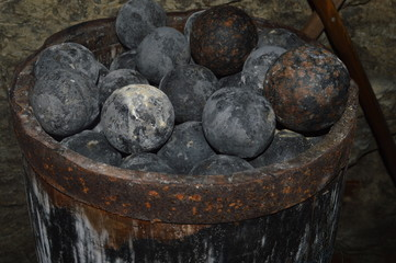 Cannonballs in a barrel