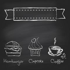 Vintage chalkboard menu