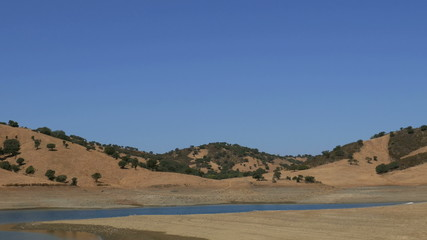 Panoramic View of the Valley with Lake, Central Portugal