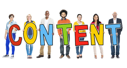 Diverse People Holding Text Content