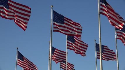 American Flags, United States, 4th of July