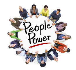 Group of People Holding Hands with People Power