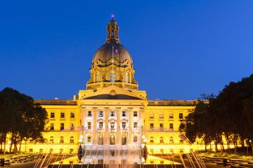The Alberta Legislature Building, Edmonton, Canada, at dusk
