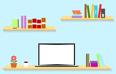 パソコン 本棚