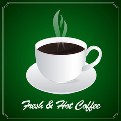A Cup of Fresh & Hot Coffee