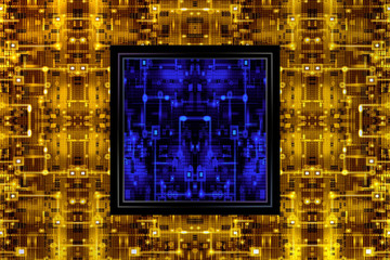 Yellow&Blue Circuit Board