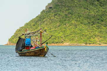 Small fishing boats in the beach