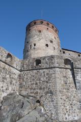 Фрагмент крепости Олавинлинна (Олафсборг).Савонлинна, Финляндия