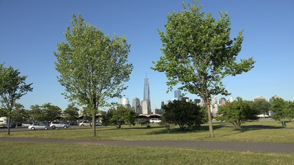 Public Park, Trees, Urban, Buildings
