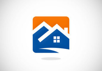 homes realty abstract icon vector logo
