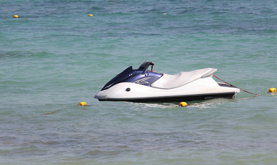 water scooter on sea