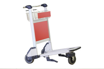 baggage trolley isolated under the white background