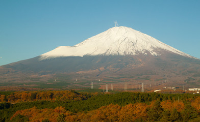 view fuji mountain see from hotel