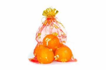 auspicious orange is in red bag