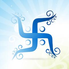 artistic swastik symbol
