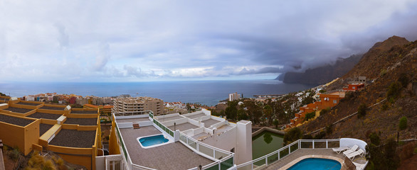 Town Los Gigantes at Tenerife island - Canary