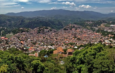 Beautiful Panoramic City View of Silver Town Taxco, Mexico