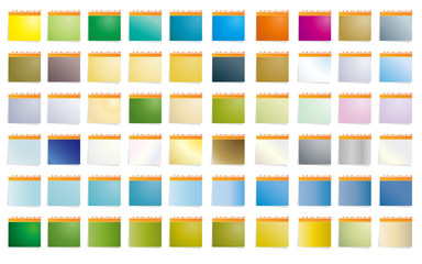 Set of 60 colored stick notes