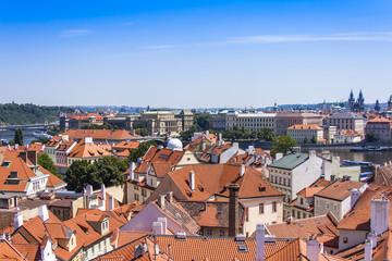 Prague, Czech Republic. View of the city of a survey platform