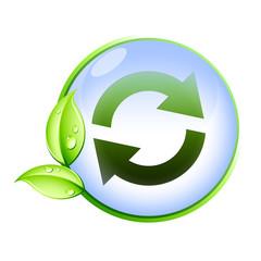 Icone bio : recyclage