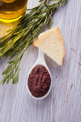 Tapenade. Appetizer from olives.
