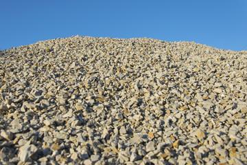 Ghiaia di roccia in cava