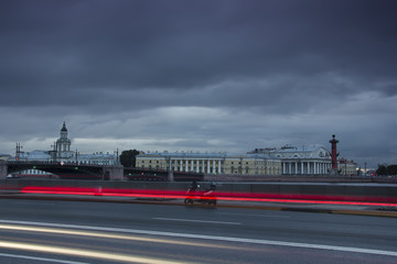 The Palace embankment ,St. Petersburg ,Russia