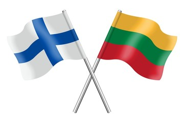 Flags: Finland and Lithuania