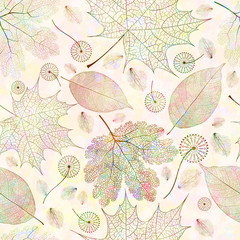 Seamless pattern, autumn leaves. Vector, EPS 10