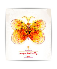 Vector abstract  butterfly. EPS10