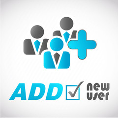 picto homme d'affaires : add new user