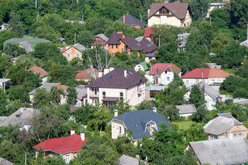Top view of a house in Kiev, Ukraine.