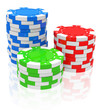 canvas print picture - the poker chips