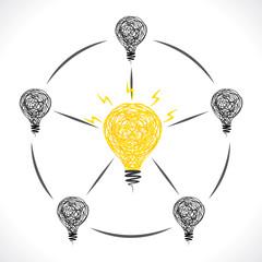 new idea of center bulb design concept vector