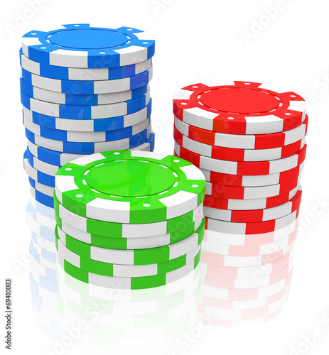 canvas print picture the poker chips