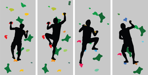 climber silhouette vector