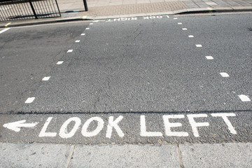 Look left and look right in London