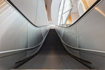 Metro moving escalator