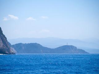 Cape lighthouse of Lefkas island