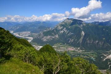 Tagliamento e Tolmezzo (vista dal monte San Simeone)