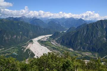 Fiume Fella (vista dal monte S.Simeone)